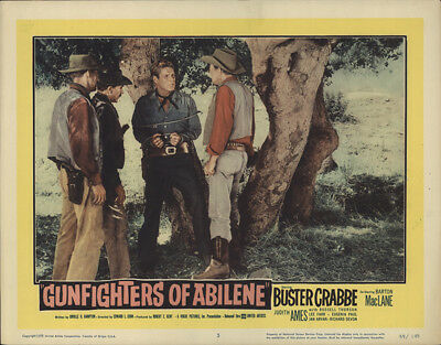 Gunfighters of Abilene 1959 11x14 Orig Lobby Card FFF-29673 Buster Crabbe Wes...