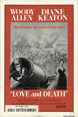 Love and Death 1975 27x41 Orig Movie Poster FFF-29199 Diane Keaton Woody Allen