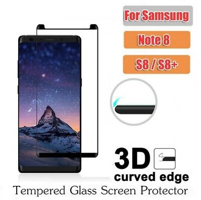 Galaxy Note 8 S8 Plus S7 3D Full Cover Tempered Glass Screen Protector Samsung