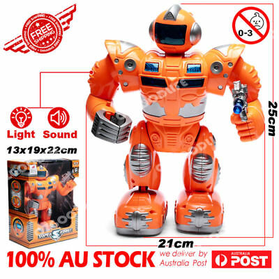 Super S Walking warrior Robot with LED Lights and Music Christmas Xmas GIFT kids
