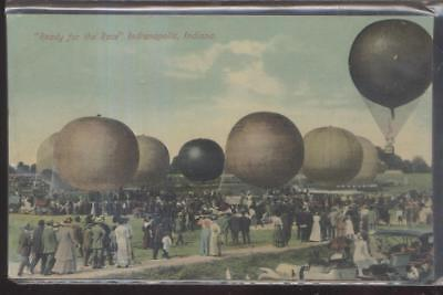Postcard INDIANAPOLIS Indiana/IN  Local Area Hot Air Balloon Races 1907