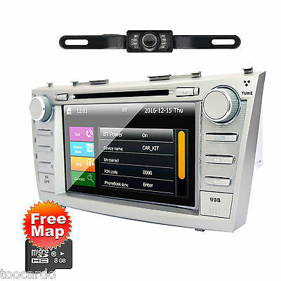 """8"""" 2Din In Dash CAR DVD Player GPS radio BT USB Stereo+Camera For TOYOTA Camry"""