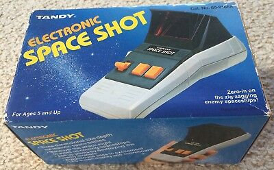 Original 1982 Tandy Electronic Space Shot Hand Held Game Unused