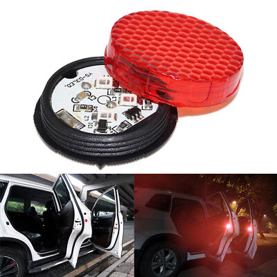 Universal Wireless LED Door Open Warning Anti Collid Signal Flash Light For Car