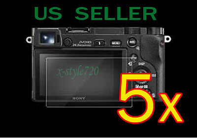 5x Clear LCD Screen Protector Guard Cover Film For Sony Alpha A5000 A6000 Camera