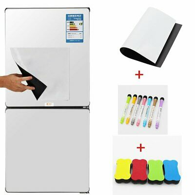 A4 Flexible Fridge Magnetic Whiteboard Memo Reminder Board Pen &Eraser Magnet SN