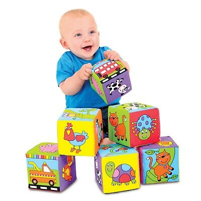 Galt Toys Baby Soft Blocks Six Foam Filled Blocks To Play With Soft And Safe