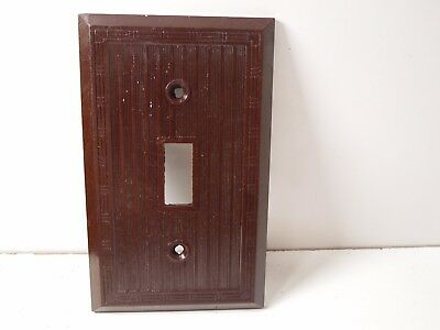 Vintage Brown  Switch  Plate Bakelite? Art Deco Borders 2 Available