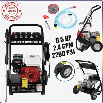 Petrol Power Pressure Jet Washer 2200PSI 6.5HP OHV Engine Gun Horse Warranty UK