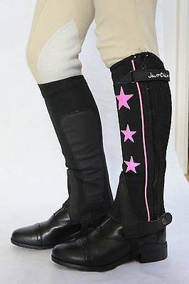 Just Chaps Kids Stars and Stripes Riding Half Chaps - pink silver turquoise