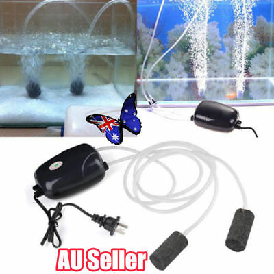 2Pcs Air Bubble Disk Stone Aerator Aquarium Fish Tank Pond Oxygen Pump SN