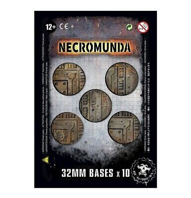 Necromunda 32mm Bases Games Workshop Scenic Base Warhammer 40,000 Brand New