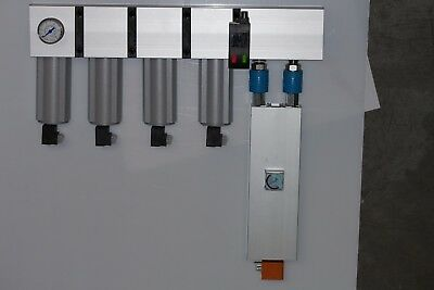 Membrane air dryer, with filters.