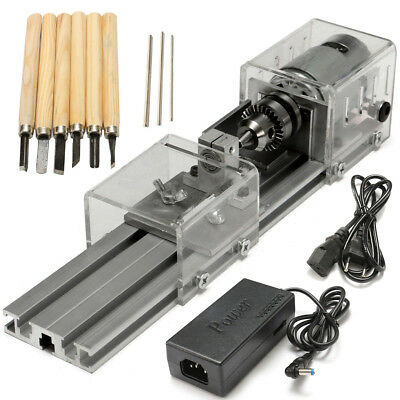 Raitool® LB-01 Mini Lathe Beads Machine Woodworking DIY Lathe Polishing Drill R