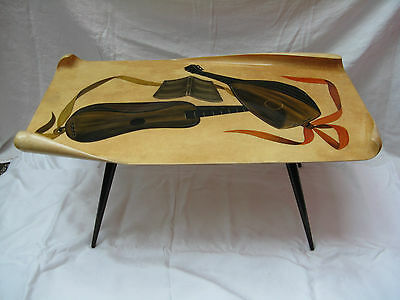 Very rare 50´s Gio Ponti style ALDO TURA MILANO ITALY side table / Design Tisch