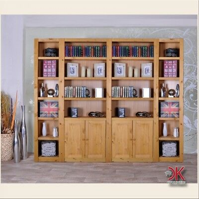 b cherregal regal regalwand b roregal bibliothek b cherwand landhaus kiefer holz eur 499 99. Black Bedroom Furniture Sets. Home Design Ideas