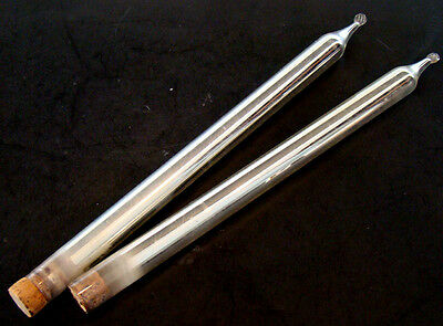 """Pair of ANTIQUE Vintage MERCURY GLASS 10"""" Silver Taper CANDLES for CANDLE HOLDER"""