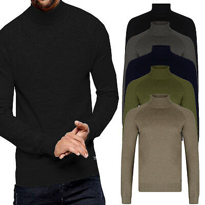 030aa8fff797d8 Threadbare Mens Logan Roll Neck Sweater Designer Knitted Warm Winter Jumper