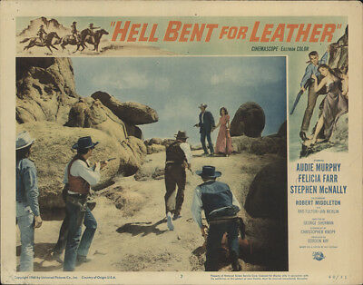Hell Bent for Leather 1960 11x14 Orig Lobby Card FFF-32224 Audie Murphy Western