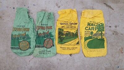 Vintage Grass seed bags