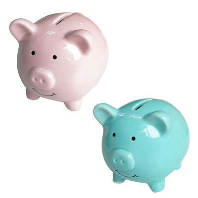 Ceramic Keepsake Piggy Bank, Pink G3S9