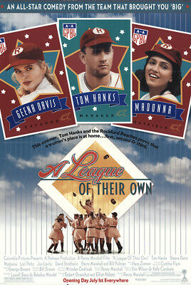 A League of Their Own 1992 26.75x39.5 Orig Movie Poster FFF-30499 Tom Hanks