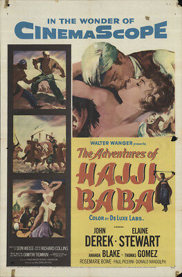 The Adventures of Hajji Baba 1954 27x41 Orig Movie Poster FFF-63704 John Derek
