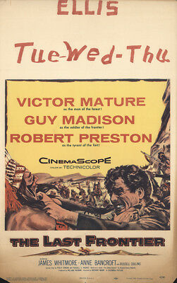 The Last Frontier 1955 14x22 Orig Movie Poster FFF-30235 Robert Preston Western