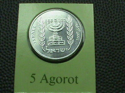 ISRAEL   5  Agorot    1980   UNCIRCULATED   $ 2.99 maximum shipping in USA