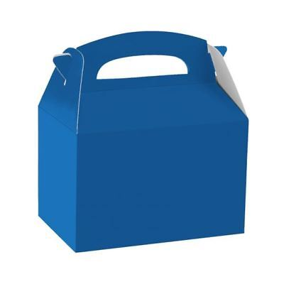 Bright Blue Gable Party Boxes Loot Bag Birthday Wedding Party Favour Box