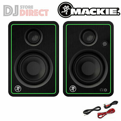 "MACKIE CR3 3"" Active DJ Studio Monitor Desktop Gaming Music Speakers PADS LEADS"