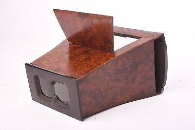 Wooden Stereoviewer for glass and card stereo view format 8,5x17 cm.