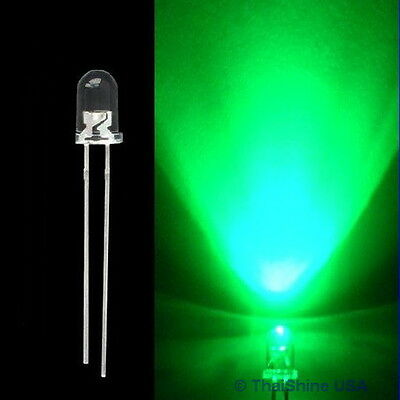 30pcs LED 3mm Green Water Clear Ultra Bright - USA Seller - Free Shipping