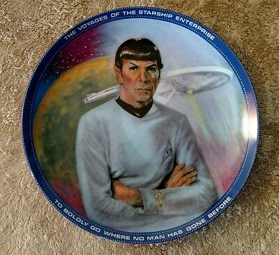 Mr. Spock Science Officer Hamilton Collectible Plate Star Trek