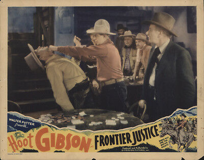Frontier Justice 1935 11x14 Orig Lobby Card FFF-31051 Hoot Gibson