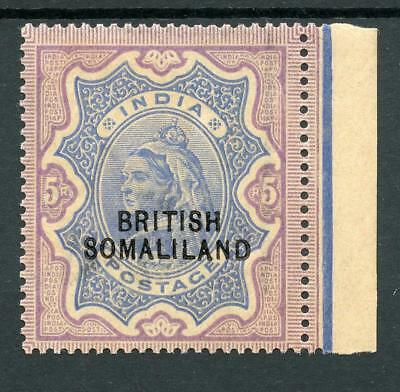 Somaliland 1903 5r optd at bottom SG24 MNH  cat £130 - toned gum and appearance