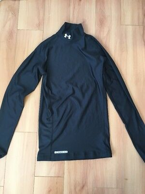 Under Armour Cold Gear Compression Black Long Sleeve Mock Top Size Medium