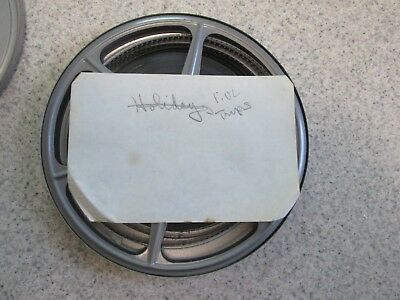 """Vintage Family Videos """"Holiday Trips"""" 8MM Film On Reel Early 60's"""