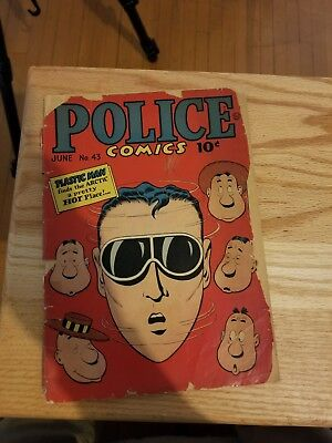 Police Comics #43 poor shape see pictures