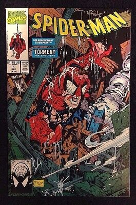 "Spider-Man #5 Marvel Comics 1990 ""torment"" Signed By Todd Mcfarlane Nm/m"