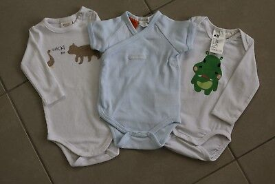 3 Pack Baby Boy Girl Unisex Newborn Bodysuits One Piece 0000 SEED, PATCH, H&M
