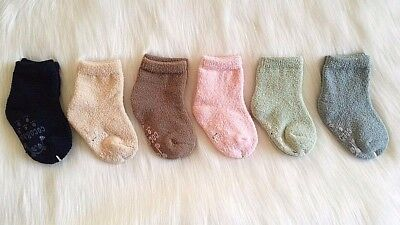 Non-Slip Thick Warm Girls Boys Slipper Fluffy Socks Super Soft Lot