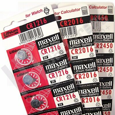 Maxell Lithium Batteries 3V Coin for Watch Calculator Remote Fob ( All Sizes )
