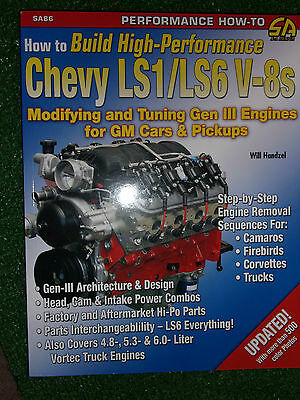 How to Build High Performance Chevy Ls1 & Ls6 V-8 V8 Gen III ENGINE MANUAL BOOK