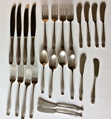 Wallace Sterling Stradivai 5 piece place settings   24 pieces not scrap
