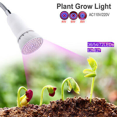 Compact E27 E26 LED Grow Light Plant Culturing Lamp For Indoor Desk Flowers 507