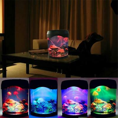 Night Light Jellyfish Tanks Indoor House Decorations Realistic Ocean Backgrounds