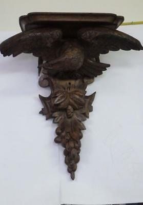 Beautiful Carved Black Forest Eagle Wall Bracket c1880