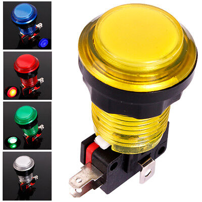 Round Lit Illuminated Arcade Video Game Push Button Switch LED Light 5V/12V I3R5