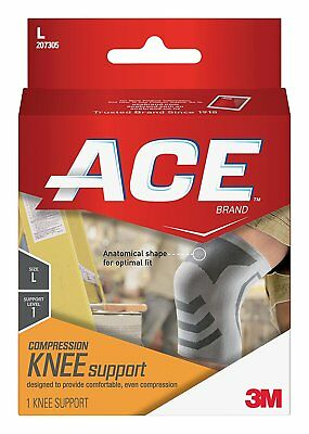 ACE Knitted Knee Support, Large Pack of 2